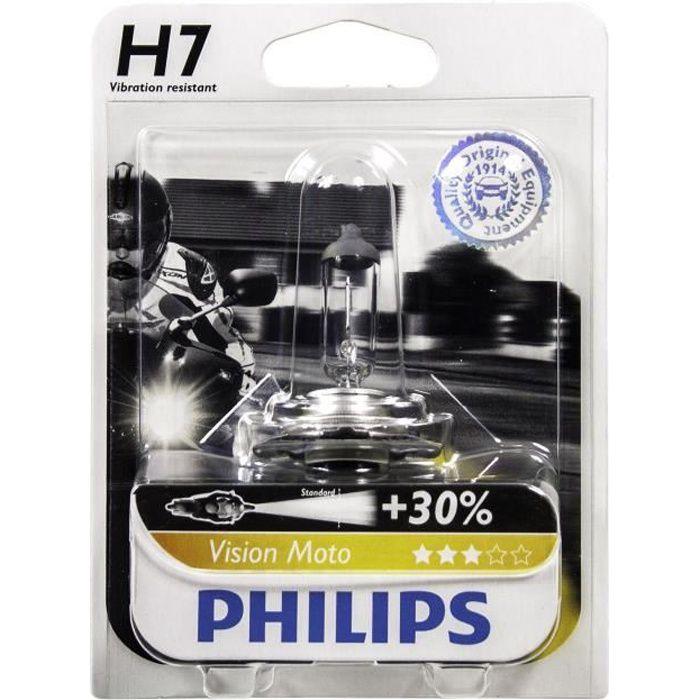 PHILIPS Ampoule halogène Moto Vision H7 - 12V - 55W