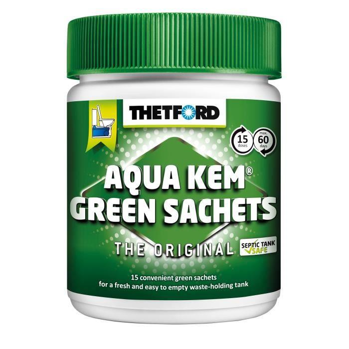 THETFORD Sachets Aqua-Kem vert - Traitement écologique - x 15