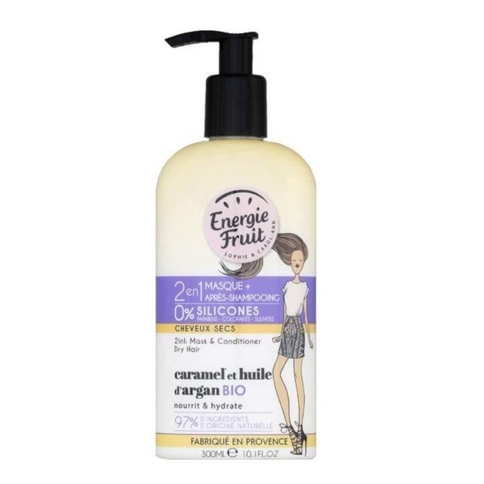 ENERGIE FRUIT Masque et après-shampoing pour cheveux secs CARAMEL et Huile d'Argan - 300 ml