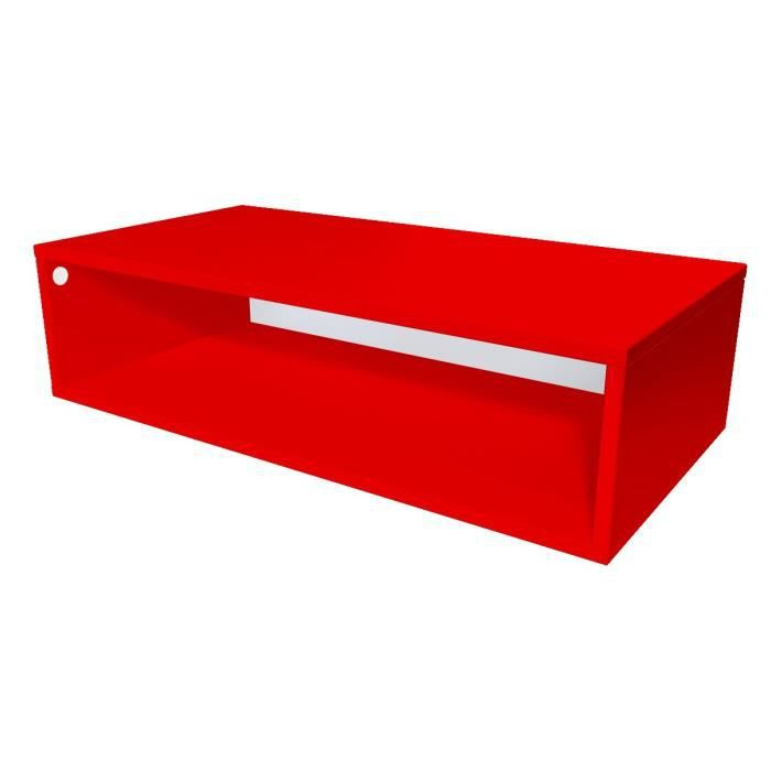 cube de rangement bois largeur 100 cm rouge achat. Black Bedroom Furniture Sets. Home Design Ideas