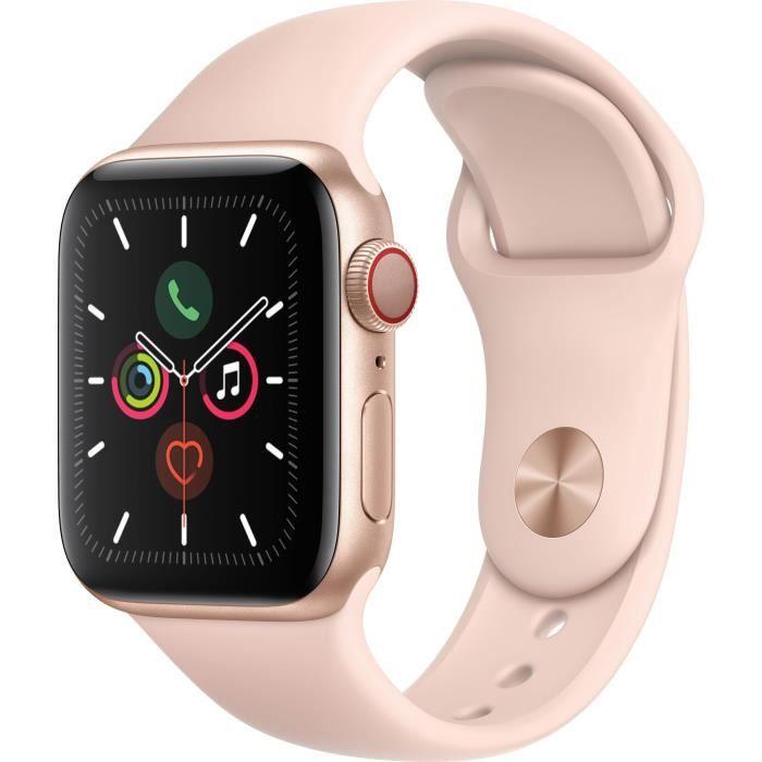 MONTRE CONNECTÉE Apple Watch Series 5 Cellular 40 mm Boîtier en Alu