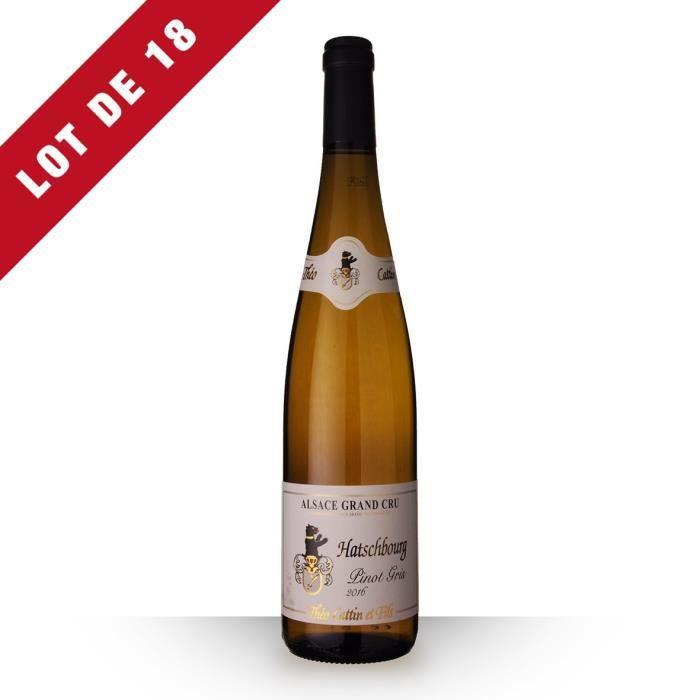 VIN BLANC Lot de 18 - Théo Cattin Grand Cru Pinot Gris 2016