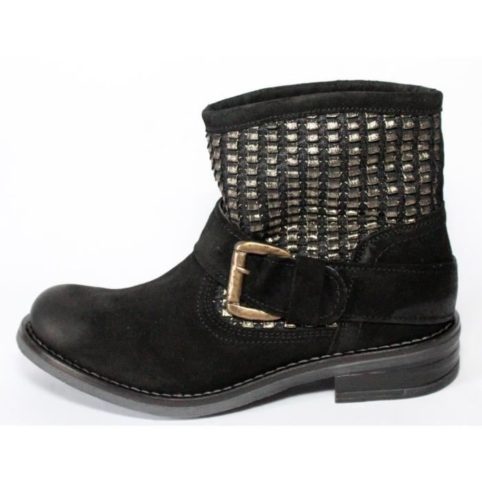 BOTTINES BASSE 100% CUIR T 38 NOVES kl4RxV