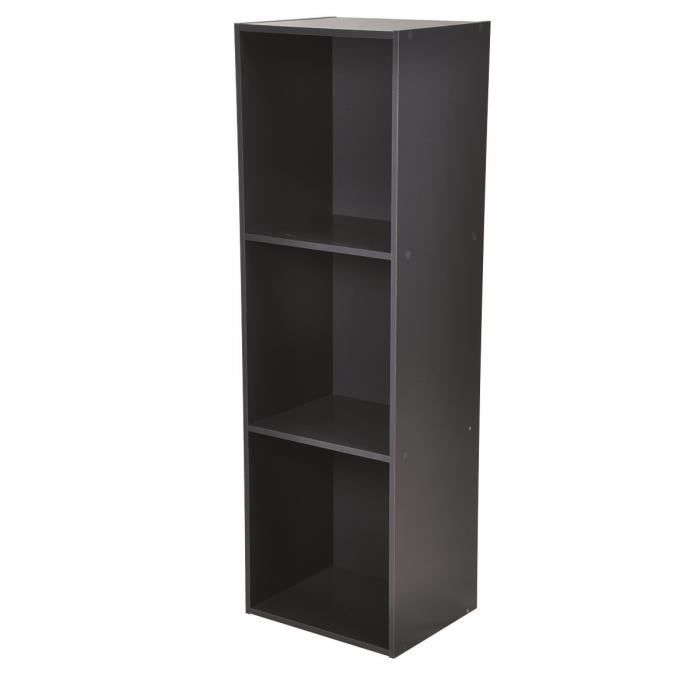 meuble de rangement m tal 3 tag res gris anthracite. Black Bedroom Furniture Sets. Home Design Ideas