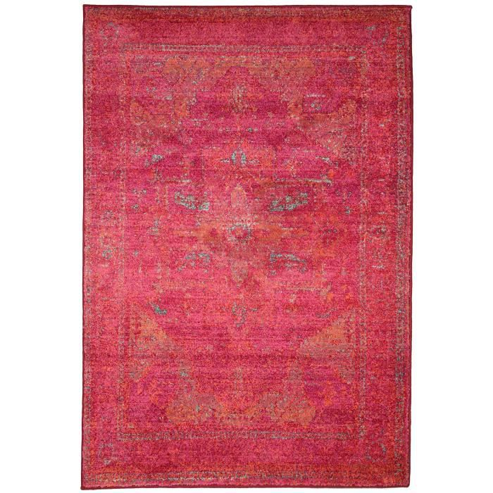 benuta tapis liguria fuchsia 140x190 cm achat vente tapis soldes cdiscount. Black Bedroom Furniture Sets. Home Design Ideas