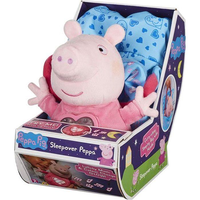 Peppa Pig Sleepover Jouet En Peluche Doux Avec Sons Peppa Achat Vente Peluche Cdiscount