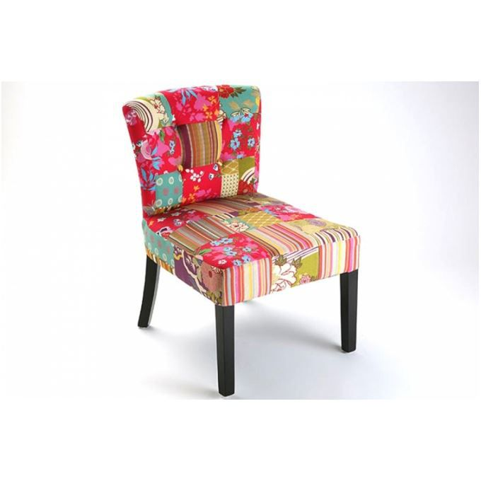 fauteuil design patchwork lilly achat vente fauteuil. Black Bedroom Furniture Sets. Home Design Ideas