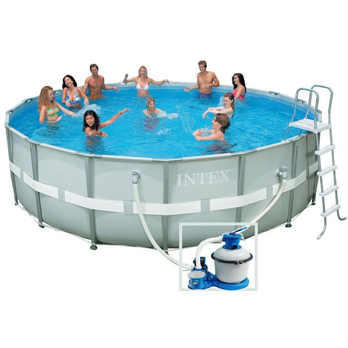Piscine autoportante en kit tubulaire ronde achat for Piscine autoportante
