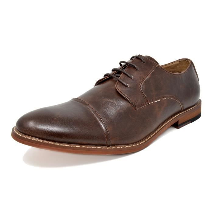 Bruno Marc Marlon-1 Leather Lined Dress Oxfords Shoes UIQ4V Taille-38 1-2