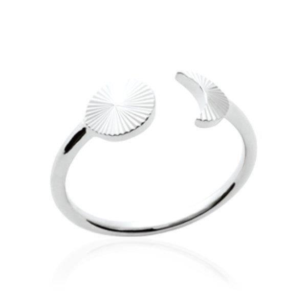 BAGUE - ANNEAU Bague anneau femme - argent 925 massif rhodié - lu