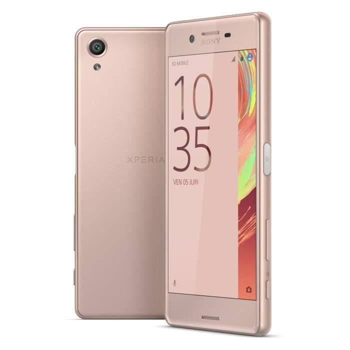 destockage sony xperia x 32 go rose smartphone au meilleur prix soldes cdiscount. Black Bedroom Furniture Sets. Home Design Ideas