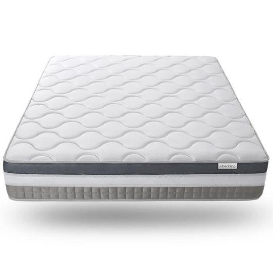Matelas mémoire de forme 140x190 Confort Royal Hbedding - Epaisseur 30cm. - 7 zones de confort + mousse mémoire adaptative