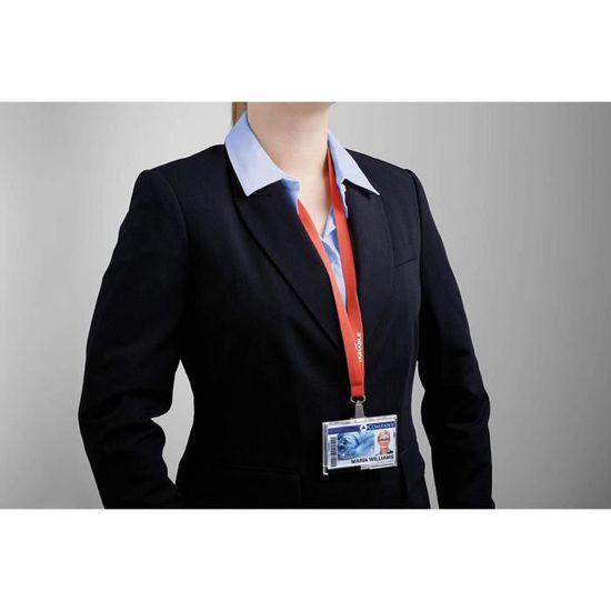 Durable SOFT COLOUR Lacet textile avec mousqueton Bleu Nuit