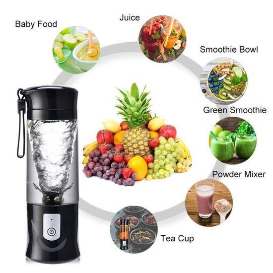 Mini Coupe Juicer 500ml USB pour Mixeur Blender Milkshake Légumes et Fruits FR