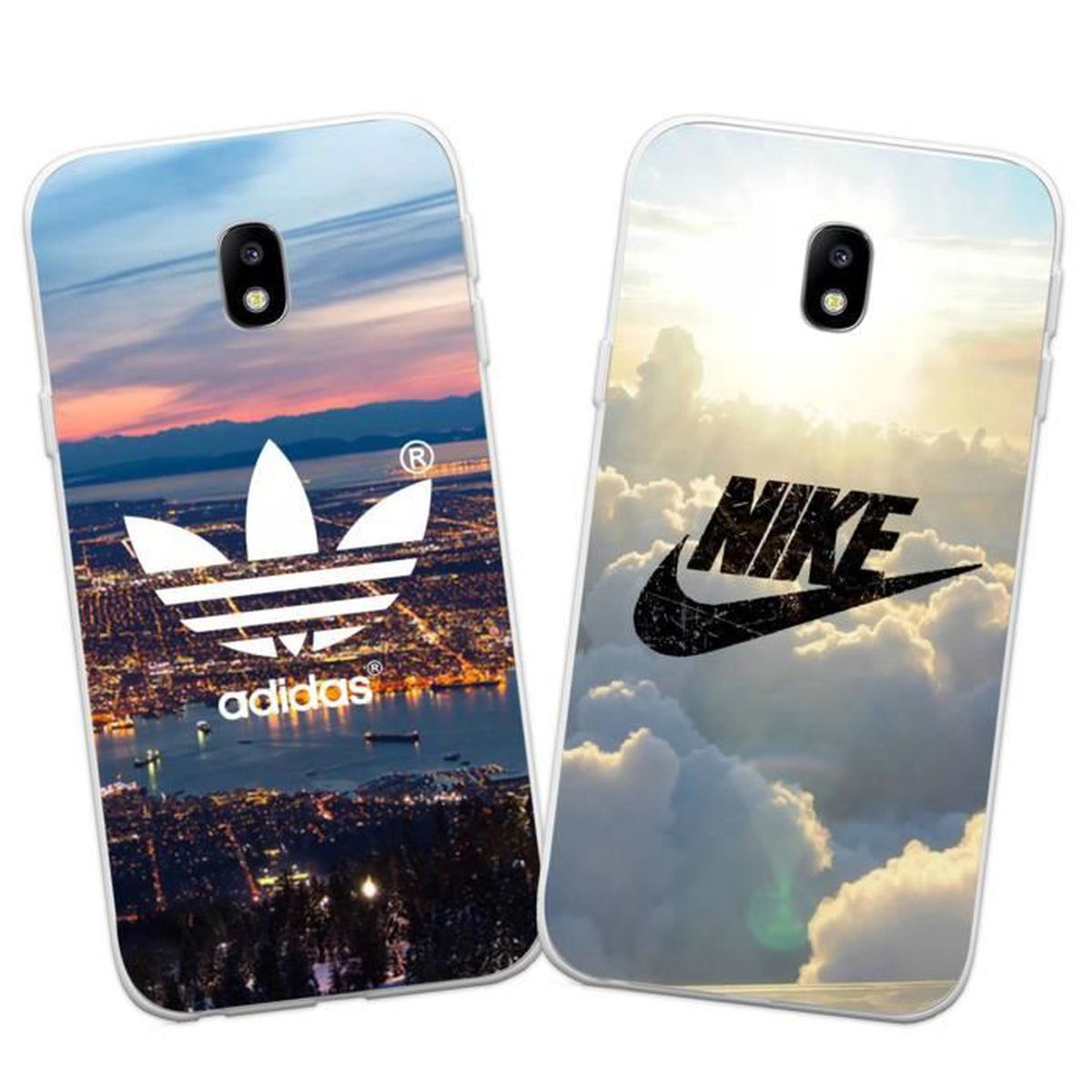 2 x coque samsung galaxy j5 2017 j530 nike et adidas doux souple tpu silicone housse tui pour. Black Bedroom Furniture Sets. Home Design Ideas