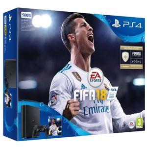 CONSOLE PS4 Console PS4 Slim 500Go Noire/Jet Black + FIFA 18 -