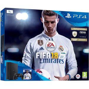 CONSOLE PS4 Console PS4 Slim 1To Noire/Jet Black + FIFA 18 - P