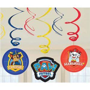 Piñata 6 Décorations à suspendre Pat' Patrouille