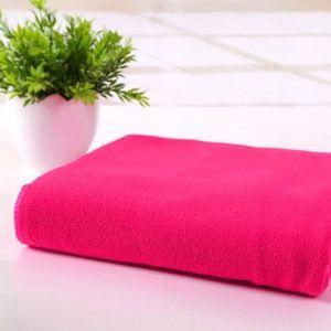 SERVIETTES DE BAIN WANG  Rouge Serviette de toilette de séchage en mi