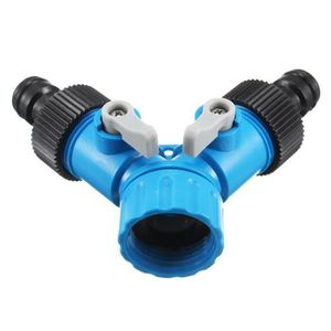 Hozelock Double Robinet Connecteur diviseur de tuyau d/'arrosage Y PIECE Universel Eau Valve