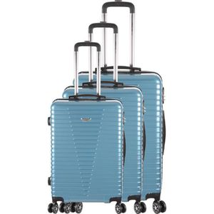 SET DE VALISES FRANCE BAG - Set de 3 valises 8 roues multidirecti
