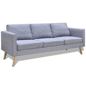 CANAPÉ - SOFA - DIVAN Festnight 2 Canapés et divans de salon en tissu 1