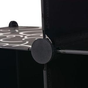 BOITE DE RANGEMENT KKmoon cube de rangement 6 compartiments noir 110