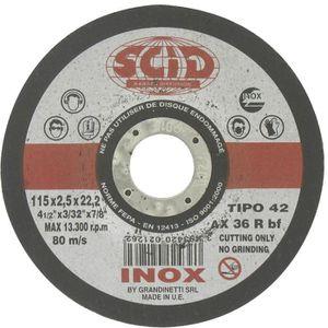 ACCESSOIRE MACHINE Disque à tronçonner l'inox SCID Moyeu déporté Ø115