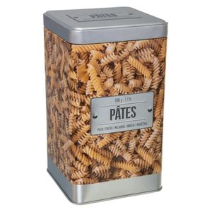 BOITES DE CONSERVATION Secret de Gourmet - Boite à pâtes en relief Gris/b