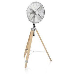 VENTILATEUR Ventilateur métallique de 40 cm sur pied en bois 5