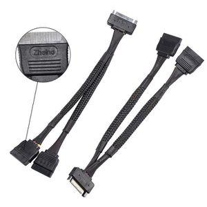 CÂBLE E-SATA SATA Power Splitter Cable broches mâle vers 2xSATA