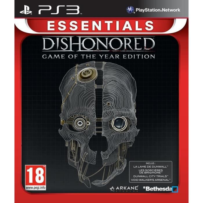 Dishonored Goty Essentials Jeu PS3