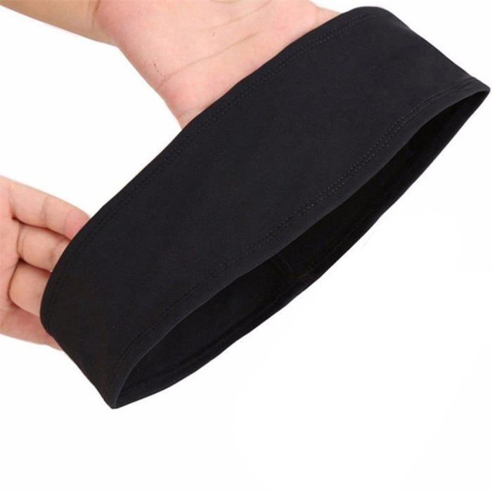 【HARNAIS DE TETE】Bandeau de cheveux Bandeau de sueur Bandeau Stretch Hommes Wrap Élastique Sports Hommes Thin Gym - Noir