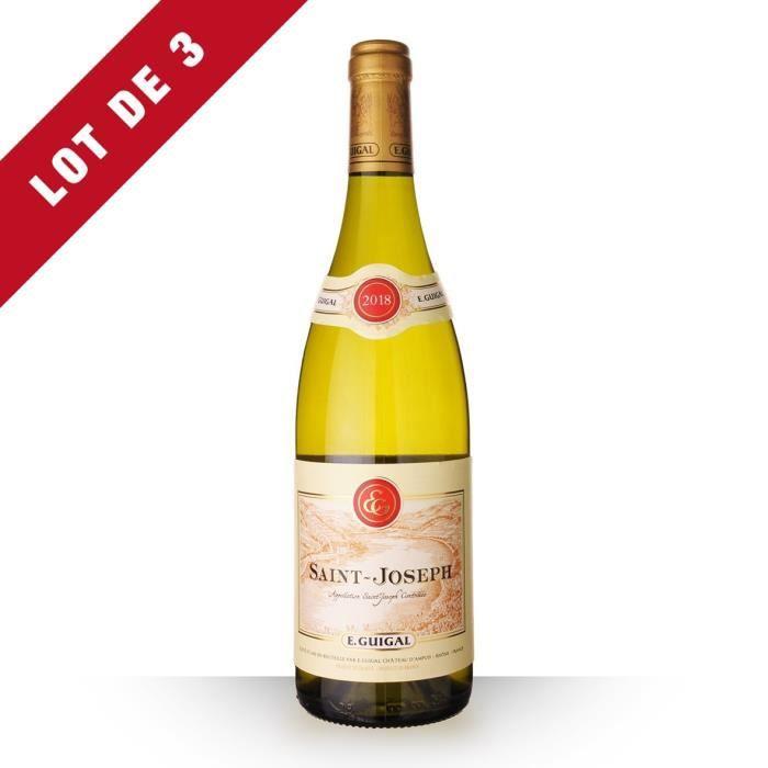 Lot de 3 - Guigal 2018 AOC Saint-Joseph - 3x75cl - Vin Blanc