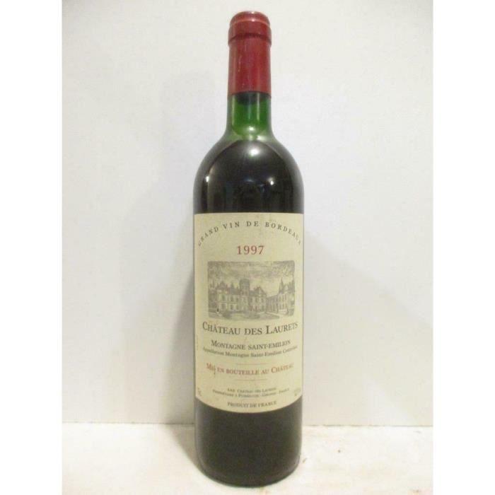 montagne saint-émilion château des laurets rouge 1997 - bordeaux