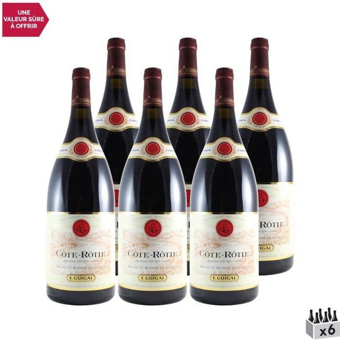 Côte Rôtie Brune et Blonde MAGNUM Rouge 2016 - Lot de 6x150cl - Maison Guigal - Vin AOC Rouge de la Vallée du Rhône