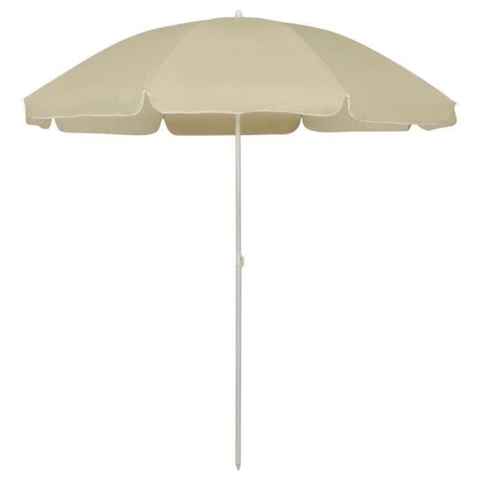 """""""8554Parasol de Jardin & balcon Parasol d'extérieur Haute qualité - Parasol de plage ABRI Tente de plage Jaune sable 240 cm"""