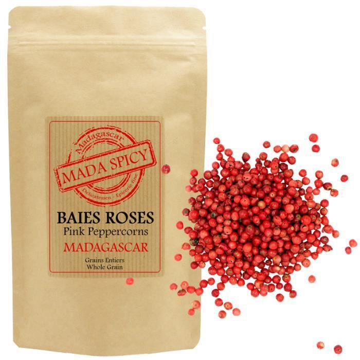 Baies Roses Premium de MADAGASCAR Qualité Gourmet 80gr en sachet kraft refermable