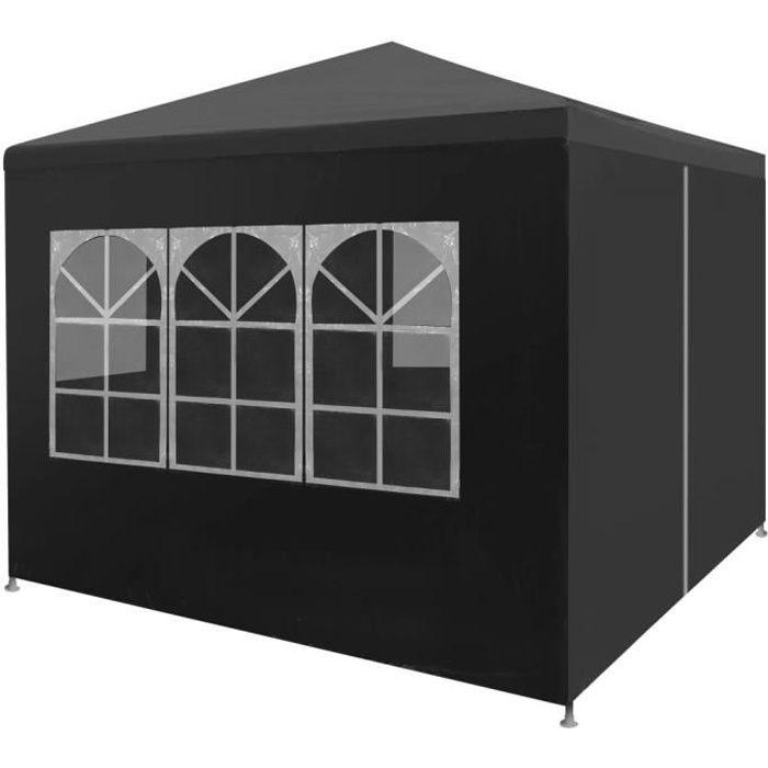 FNCM® Tonnelle de Jardin Barnum Style Moderne - Belvédère Chapiteau de jardin 3 x 3 m Anthracite ❤9945