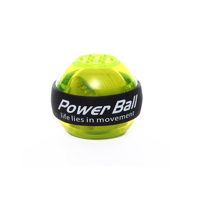 Entraîneur de poignet Powerball Arm Strengthener Essential Gyroscopic Wrist And Forearm Exerciser Ball Vert