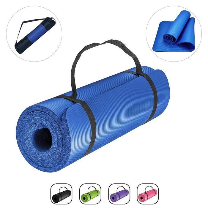 ROMIX Tapis Yoga, 15MM Epais Haute Densité Antidérapant Écologique Gymnastique Yoga Mat, Premium Léger Non Toxique Sol Tapis de E