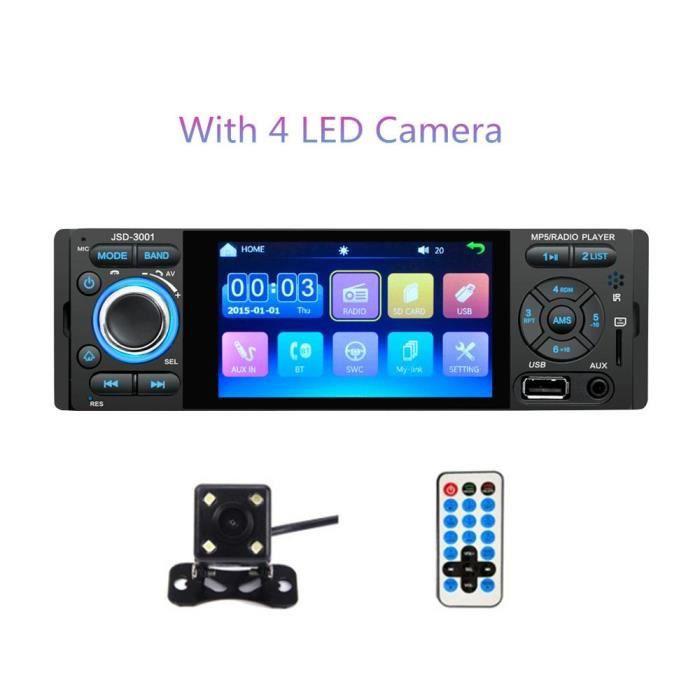 Autoradio LTBFM 1 Din Autoradio JSD 3001 4.1 MP5 lecteur de voiture écran tactile Autoradio Bluetooth 1Din - Type With 4LED Camera
