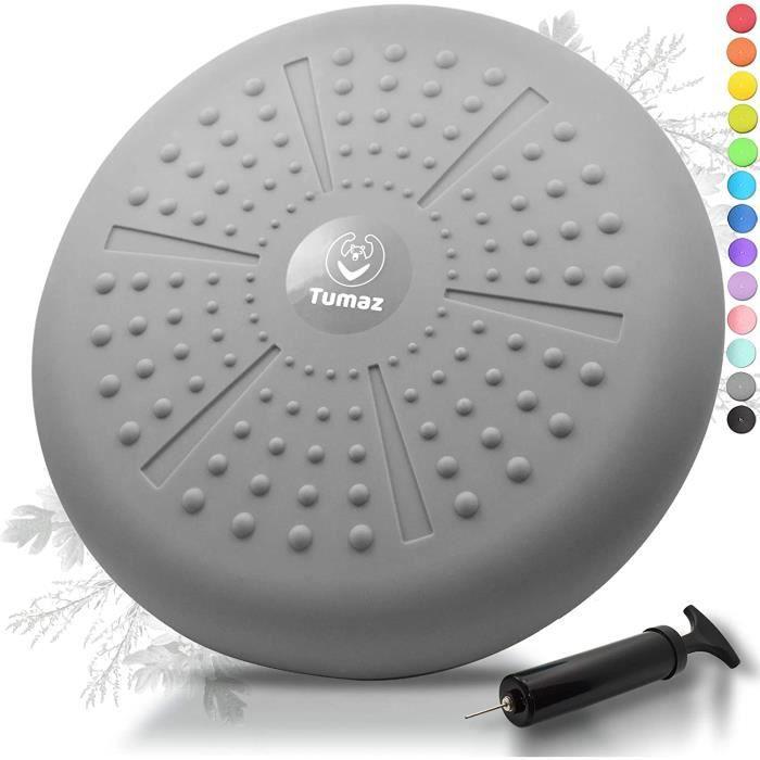Coussin d'équilibre Pompe Coussin Gonflable Pour Core Training Fitness GRIS