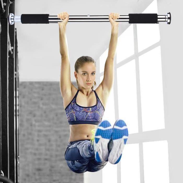 Barre de porte Traction horizontale d'exercice gymnastique portable Musculation fitness réglable à domicile 62-100cm -CHE