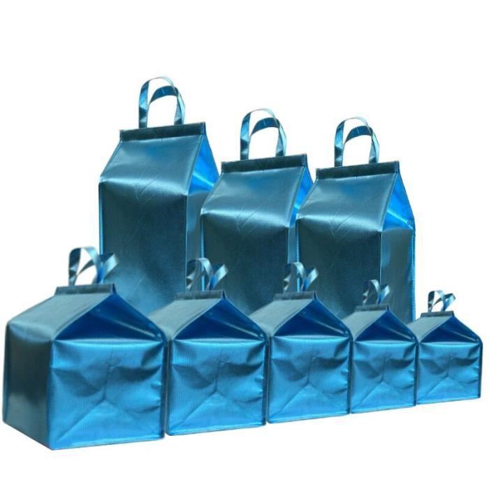 Sac à Lunch Portable,Imperméable à l'eau grand sac isolé papier d'aluminium grand sac isotherme glace - Type 6inch(27X26X33CM)