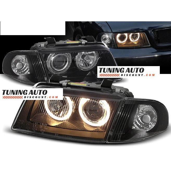 Phares avant Audi A4, 11.94-12.98 angel eyes noir ( 26825 )