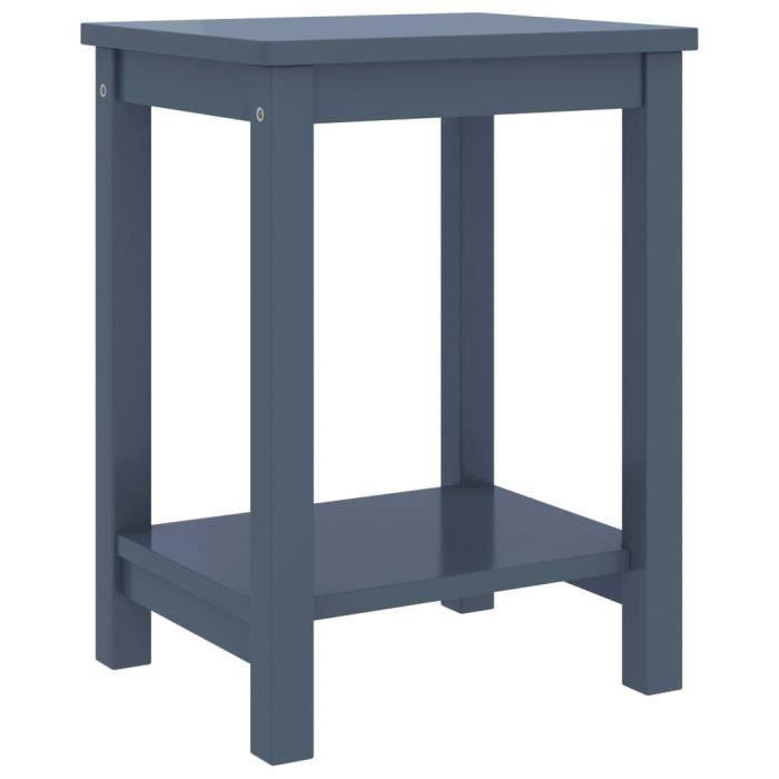 MAISON�� Table de Chevet ,Bout de Canapé ,Table de nuit Chambre Gris clair 35x30x47 cm Bois de pin massif♕8417