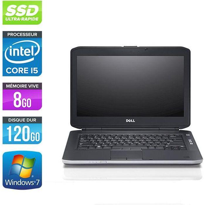 Pc portable Dell E5430 - i5 - 8Go - 120Go SSD - Windows 10 pro