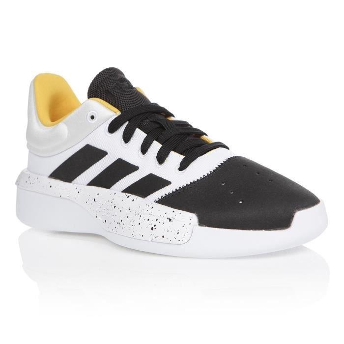 ADIDAS Chaussures de basketball PRO ADVERSARY LOW 2019 FTW - Homme - Blanc/Noir/Jaune