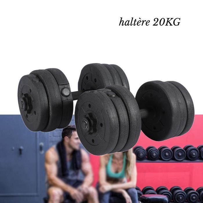 HEG Disques De Poids 1.25Kg 1.5Kg 2Kg Avec Barre 41 Cm D'Haltères De Faire De L'Exercice À La Maison -PT168
